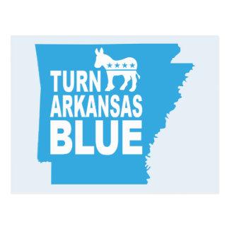 Blauw Briefkaart | van Arkansas van de draai de