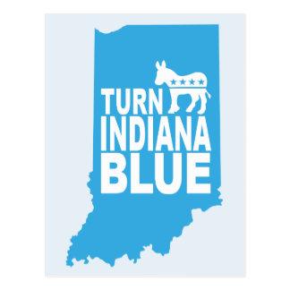 Blauw Briefkaart | van Indiana van de draai de