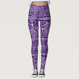 Blauw complex Patroon Leggings