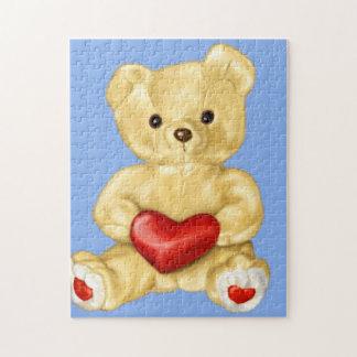 Blauw dat Leuke Teddybeer hypnotiseert Legpuzzel