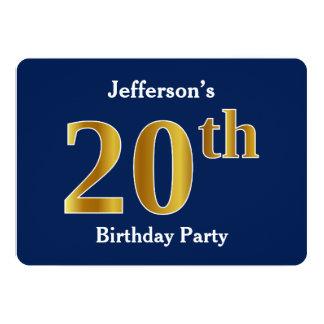 Blauw, de Gouden 20ste Partij van de Verjaardag Kaart