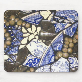 Blauw de muisstootkussen van het Mozaïek van de Muismatten