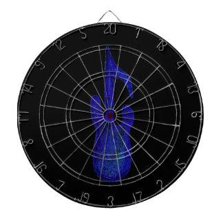 blauw de notakleurpotlood van de basgitaarmuziek dartbord