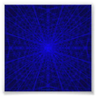 Blauw dwarsWeb Foto Afdruk