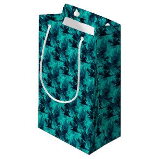 Blauw en Blauwgroen Helder Abstract Patroon Klein Cadeauzakje