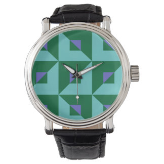 Blauw en Groen Raadsel Horloges