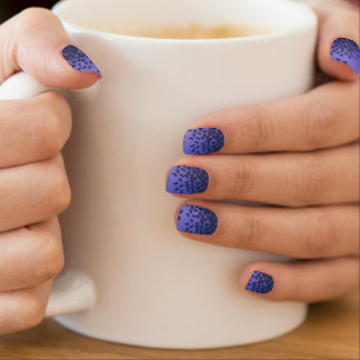 Blauw en paars de spijkerart. van het minx nail folie