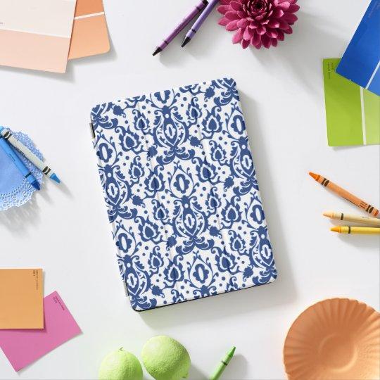 Blauw en Wit Marokkaans Damast Casbah iPad Pro Cover