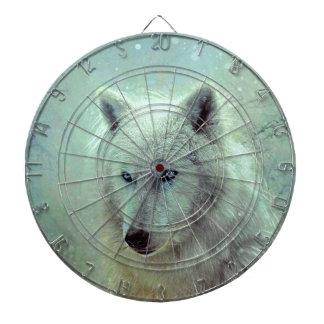 Blauw Eyed het Schilderen van de Wolf Kunstwerk Dartbord