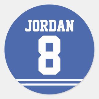 Blauw Football Jersey - de Partij van de Ronde Sticker