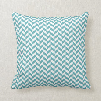 Blauw geometrisch de zigzagpatroon van de sierkussen