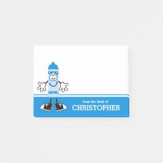 Blauw Gepersonaliseerd Kleurpotlood Post-it® Notes