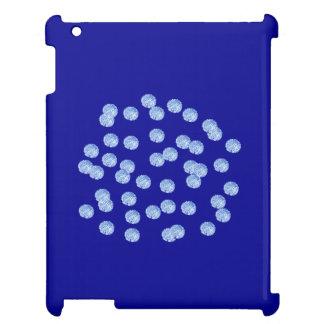 Blauw Glanzend iPadHoesje van Stippen Hoesje Voor iPad