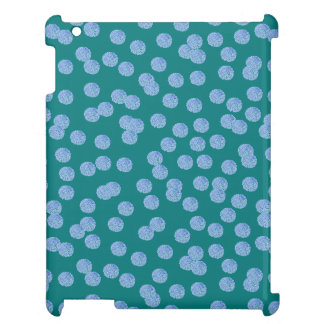 Blauw Glanzend iPadHoesje van Stippen iPad Hoesje