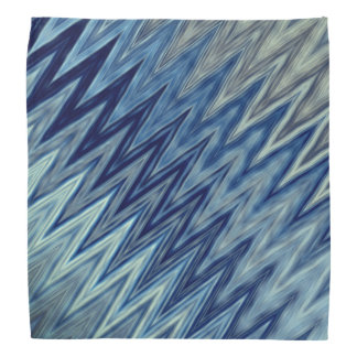 Blauw Golvend Patroon Bandana