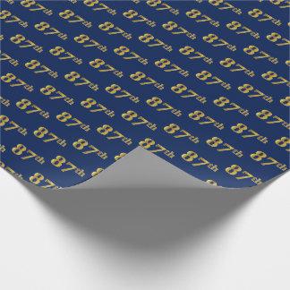 Blauw, Gouden 87ste (tachtig-Zevende) Gebeurtenis Inpakpapier