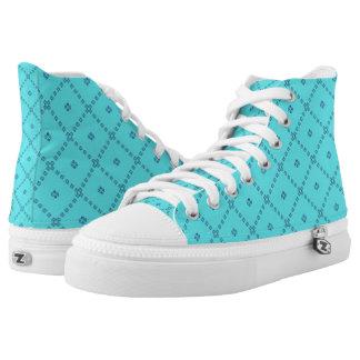 Blauw Grafisch Leuk Ontwerp High Top Schoenen