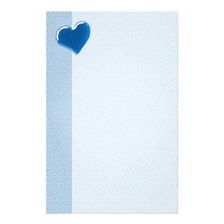 Blauw Hart | koelt Aangepast Briefpapier