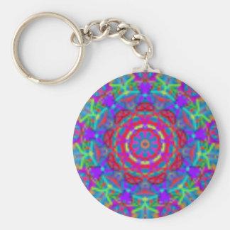 Blauw Heelal Mandala Keychain Basic Ronde Button Sleutelhanger