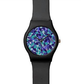 """Blauw het ontwerphorloge """"van het strandglas"""" horloge"""