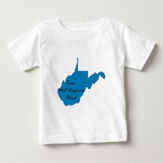 Blauw het van de West- draai van Virginia! Baby T Shirts