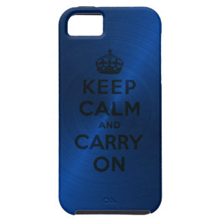 Blauw houd Rust en draag iPhone 5 Covers
