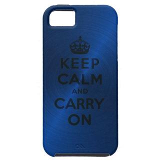 Blauw houd Rust en draag Tough iPhone 5 Hoesje