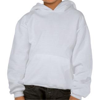Blauw II van de Poinsettia van Kerstmis Sweatshirt Met Hoodie