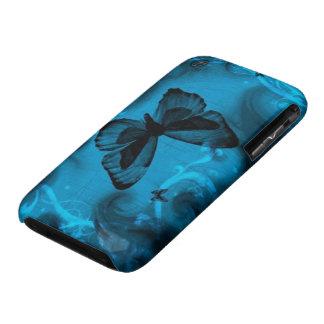 blauw kleurrijk vlinder vectorart. iPhone 3 cover