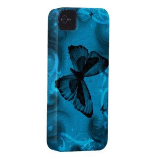 blauw kleurrijk vlinder vectorart. Case-Mate iPhone 4 hoesje