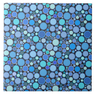 Blauw koel bellenpatroon keramisch tegeltje