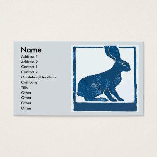 Blauw Konijn op Samenvatting Visitekaartjes