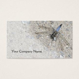 Blauw libelvisitekaartje visitekaartjes