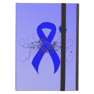Blauw Lint met Vlinder iPad Air Hoesje