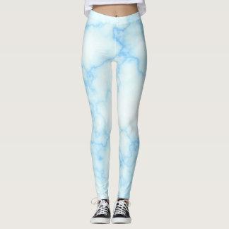 Blauw marmer leggins leggings
