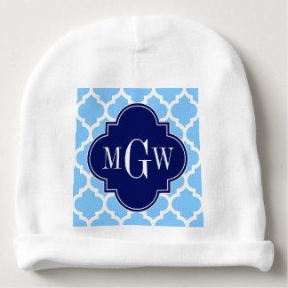 Blauw Marokkaans #5 Marineblauw Aanvankelijk Baby Mutsje