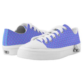 Blauw met de Lage Hoogste Schoenen van Paarse
