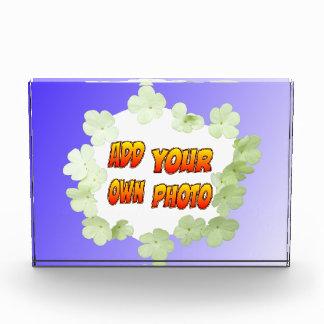 Blauw met het Witte Blok van de Foto van Bloemen