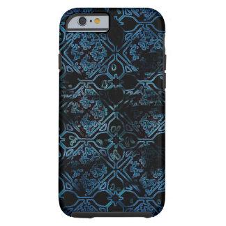 Blauw Middeleeuws Patroon Grunge Tough iPhone 6 Hoesje