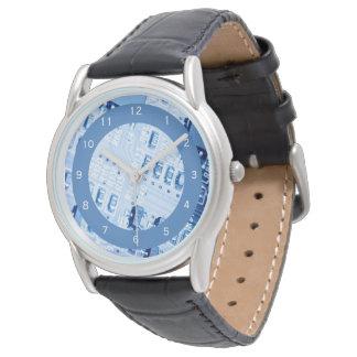 Blauw Motherboard Modern Patroon Horloges