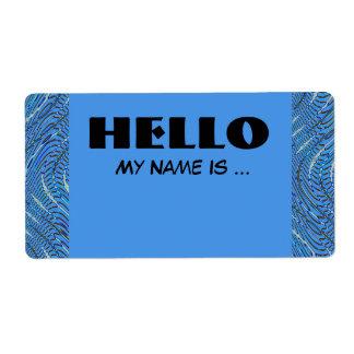 blauw naamkenteken etiket