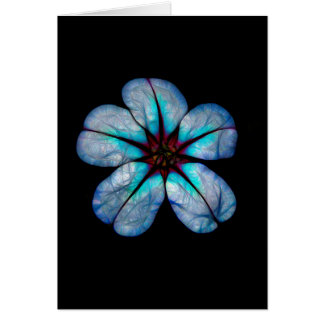 Blauw Neon Wildflower Briefkaarten 0