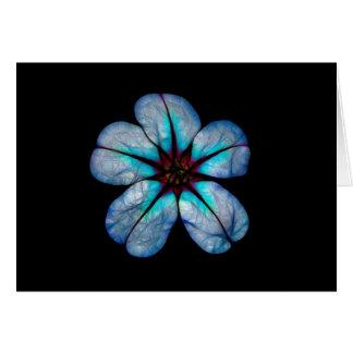 Blauw Neon Wildflower Kaart