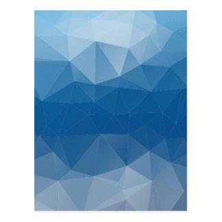 Blauw netwerk briefkaart