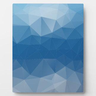 Blauw netwerk fotoplaat