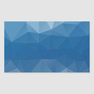 Blauw netwerk rechthoekige sticker