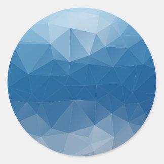 Blauw netwerk ronde sticker