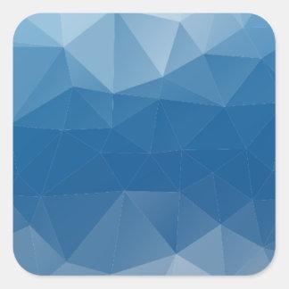 Blauw netwerk vierkante sticker