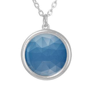 Blauw netwerk zilver vergulden ketting