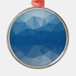 Blauw netwerk zilverkleurig rond ornament